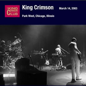 2007 Park West Chicago Illinois – March 14 2003